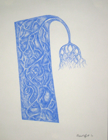 "Robert Egert, Compound, Conté on paper, 11"" x 17"", 2009"