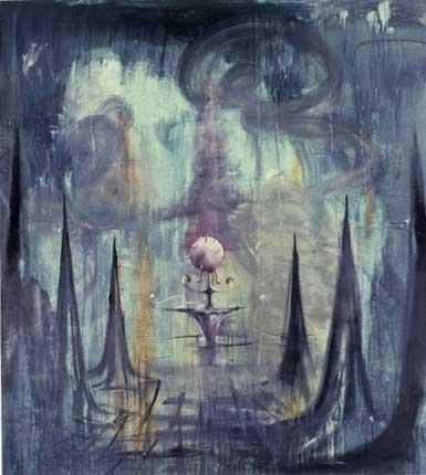 """Garden; approx. 48"""" x 52"""" circa 1986, Robert Egert"""