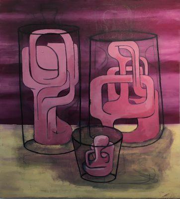 "Family; oil on canvas, 38"" x 42"" by Robert Egert, 2017"