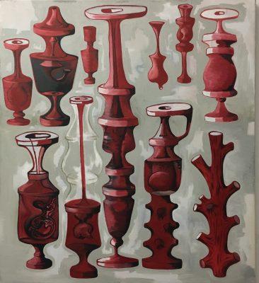 "Collection, Oil on Canvas, 38"" x 42"", Robert Egert"