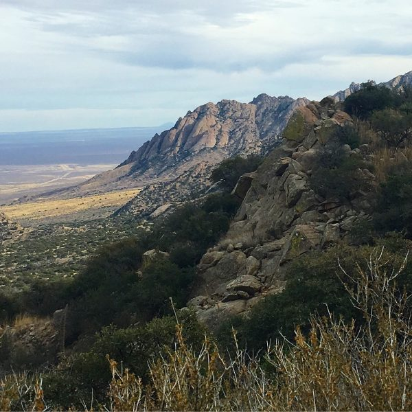 Organ Mountains from Baylor Pass looking South towards Aguirre Springs