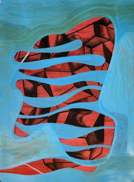 "Preparatory Académie #5 by Robert Egert, oil on paper, 22"" x 36"", April-May 2019 painted at 488 Morgan Avenue Brooklyn NY"